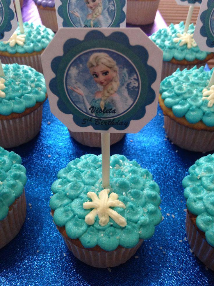 Kekitos Con Tags Frozen Pastel Cupcakes Pinterest