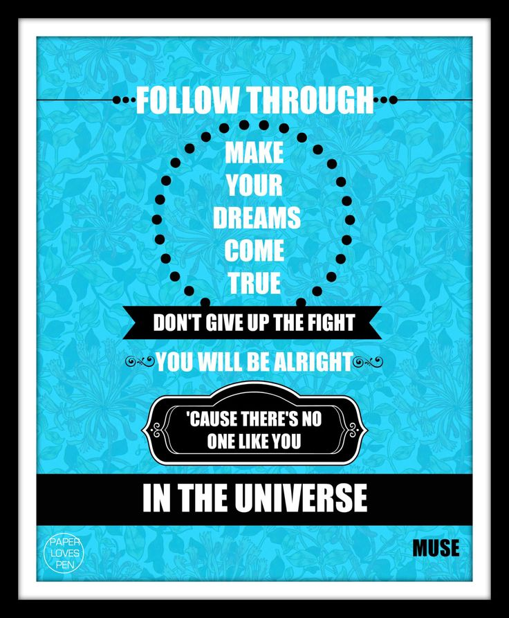 MUSE Invincible lyric Art Quote 8X10 Typography by