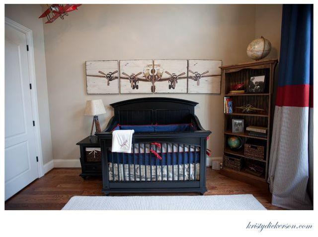 Vintage Airplane Art - possible DIY with large photocopy transfers on wood panels? I love the look!