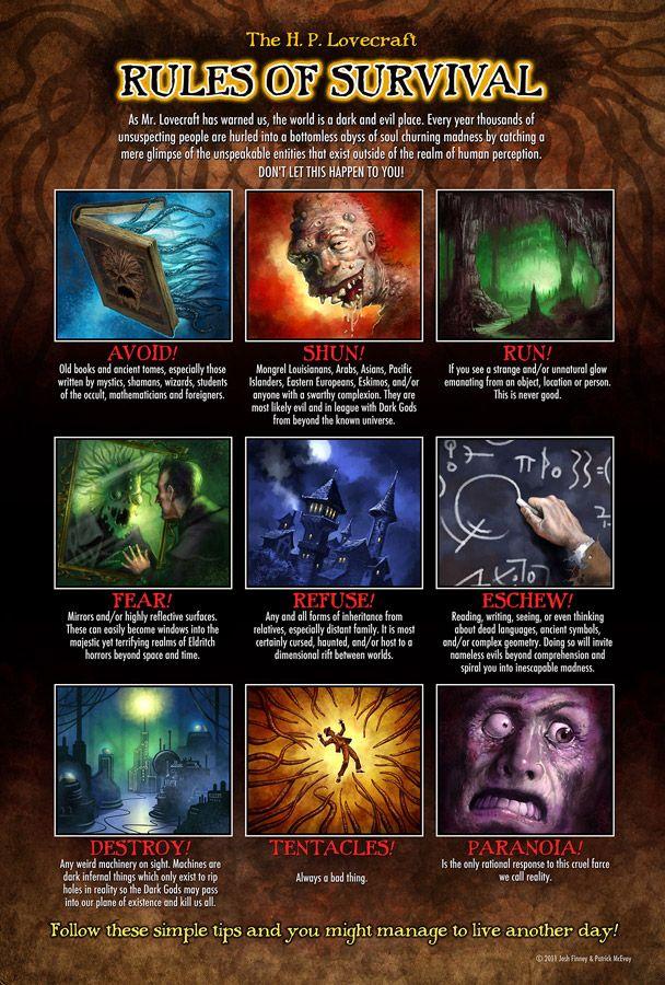 Lovecraft Survival Poster By PatrickMcEvoy On DeviantART