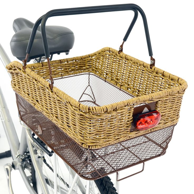 Rear topmounting wicker basket with mesh bottom, by Axiom