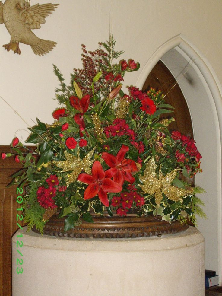 Christmas Floral Arrangements for Church Published April