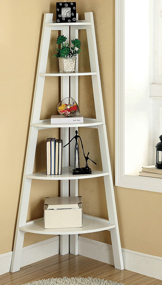 Corner Ladder Shelf White Woodworking Projects Amp Plans