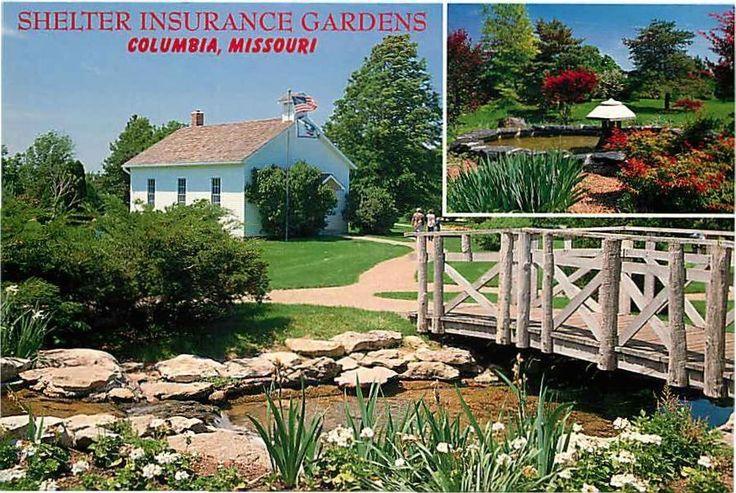 Postcard Shelter Insurance Gardens Columbia Missouri The