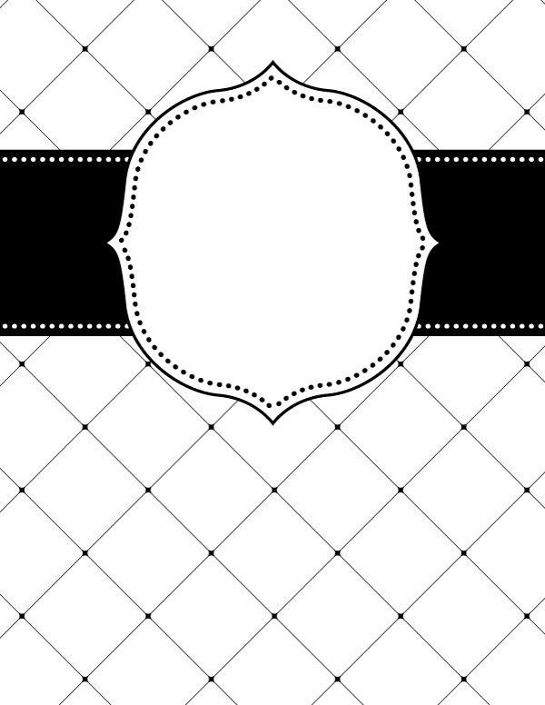 printable binder cover templates gold