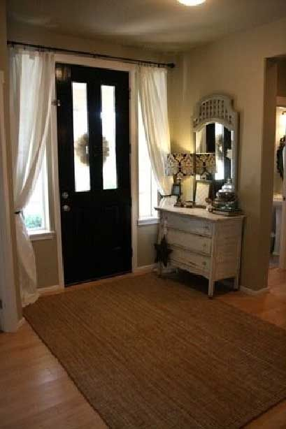 27 Best Images About Front Door Curtain On Pinterest Window Treatments Colored Front Doors