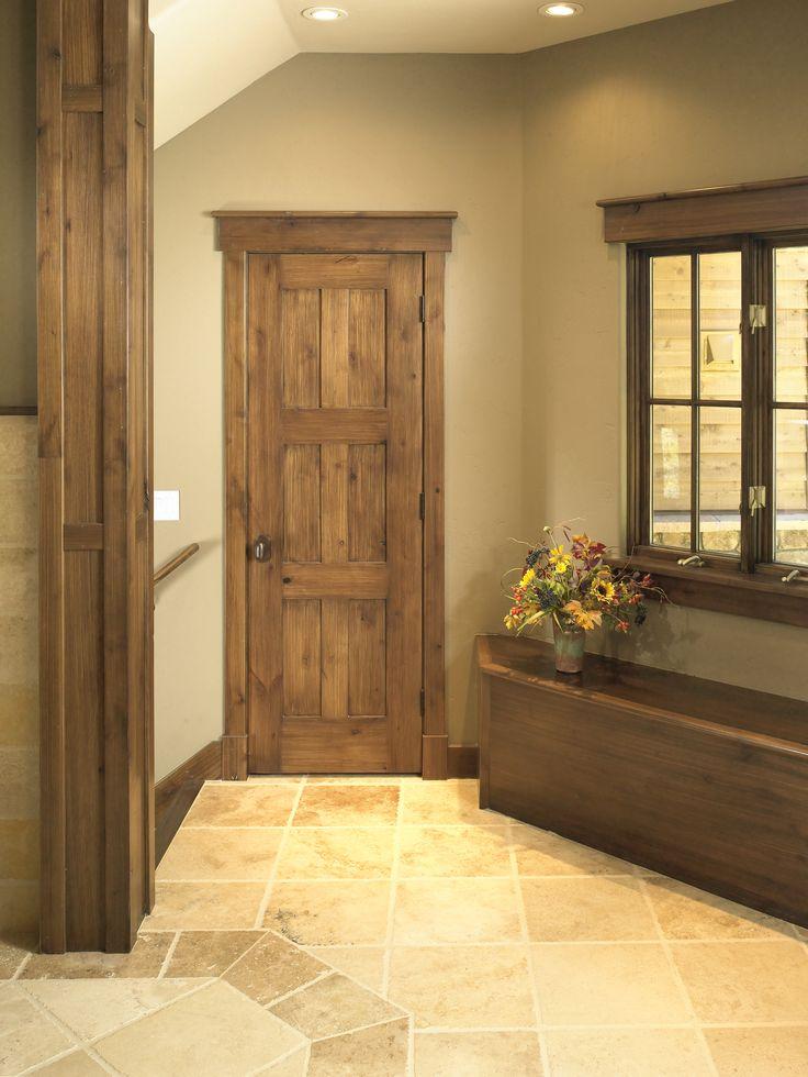 Rustic Craftsman Interior Closet Door Square Top Rail 6