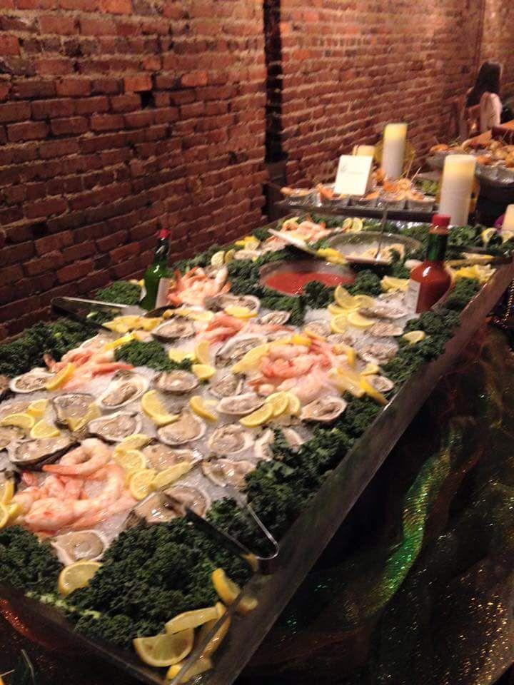 Raw Oyster Bar with Jumbo Shrimp, Cocktail Sauce