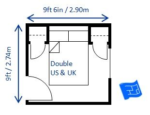 This 9ft X 6in 2 74 9m Bedroom Is The Minimum Size