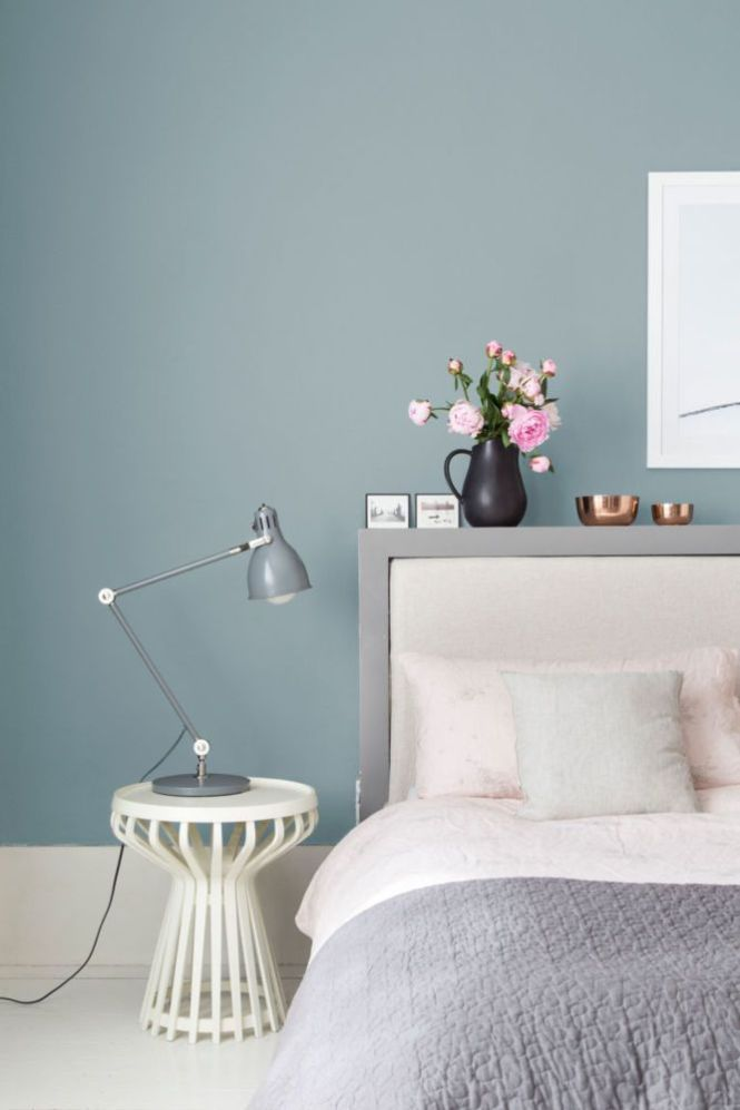 W Stories Colored Walls Bedroommaster Bedroom Accent Wall Colorblue Gray