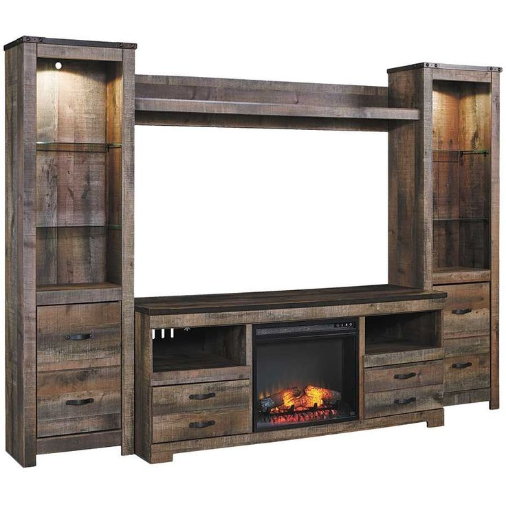 Picture Of Trinell Wall Unit With Fireplace Console For