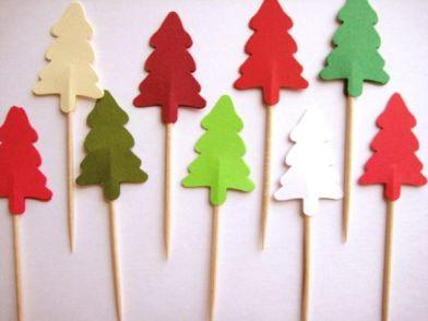 Enfeites de Natal - Árvore com palitos reciclados: