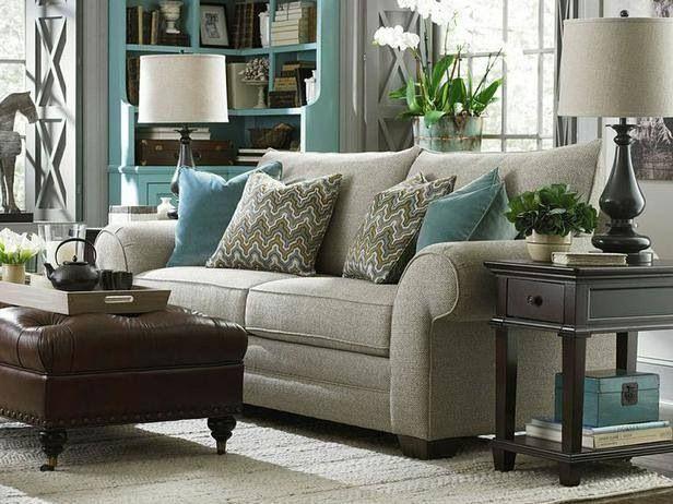 Beige And Teal Living Room. Hgtv.com