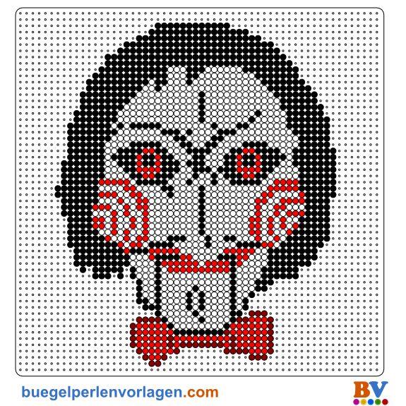 Saw Mask Perler Bead Patterns Bead Sprites Pixel Art