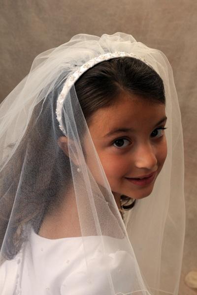 First Communion Headband Veils 4360 Alexs First
