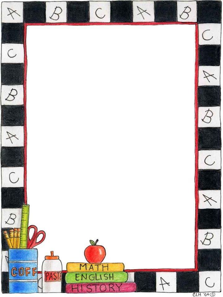 Lined Paper Landscape Kindergarten
