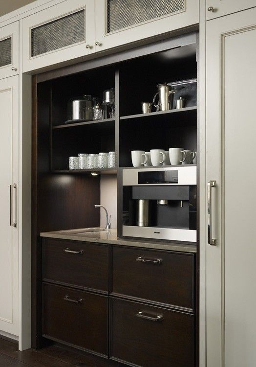 Coffee And Beverage Station Hickman Design Kitchens