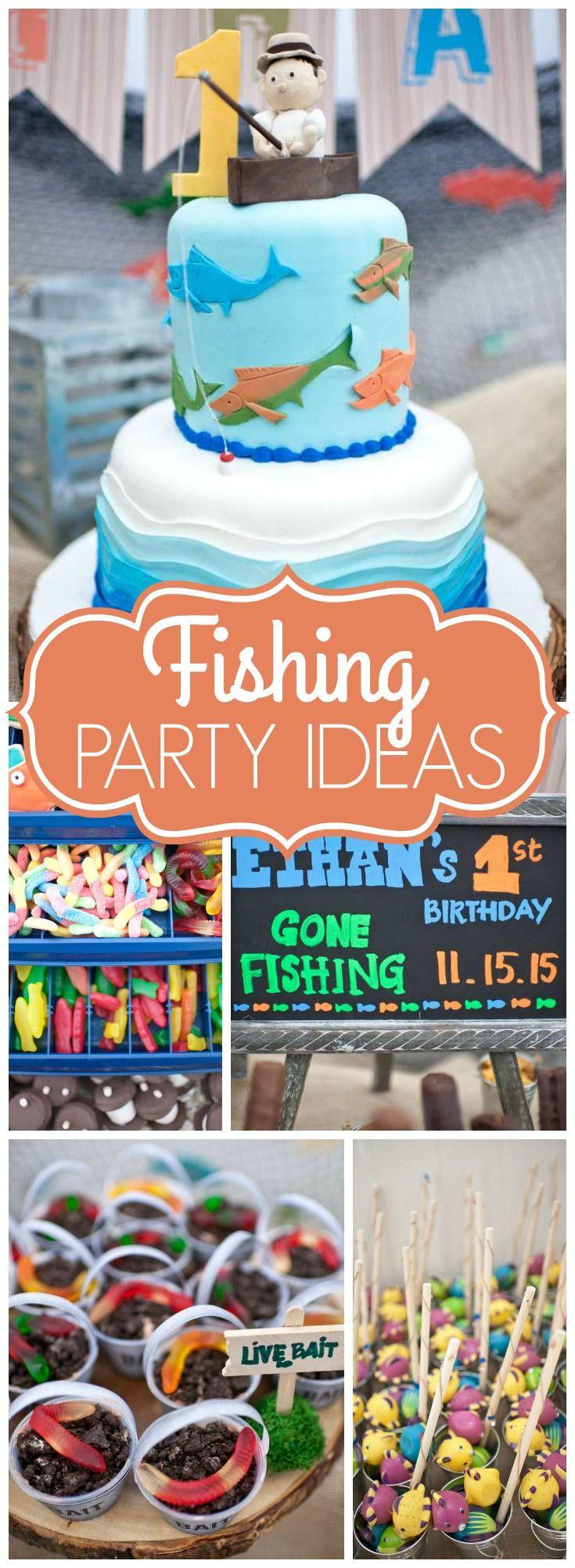 """Gone Fishing / Birthday """"Ethan's Gone Fishing 1st Birthday"""
