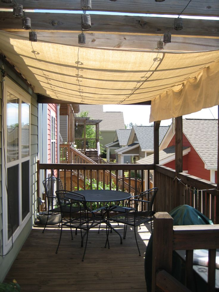 drop cloth awning for front porch ceiling For the Home