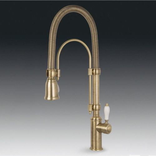 SMEG MIDR7O ITALIAN KITCHEN SINK SINGLE LEVER MIXER TAP PULL OUT SPRAY BRASS EBay NEW HOME