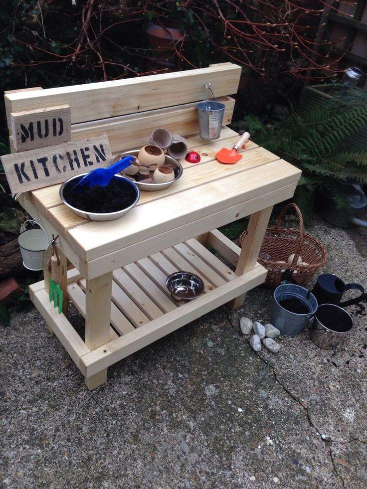 Mud Play Kitchen Outdoor childminder nursery parents eyfs