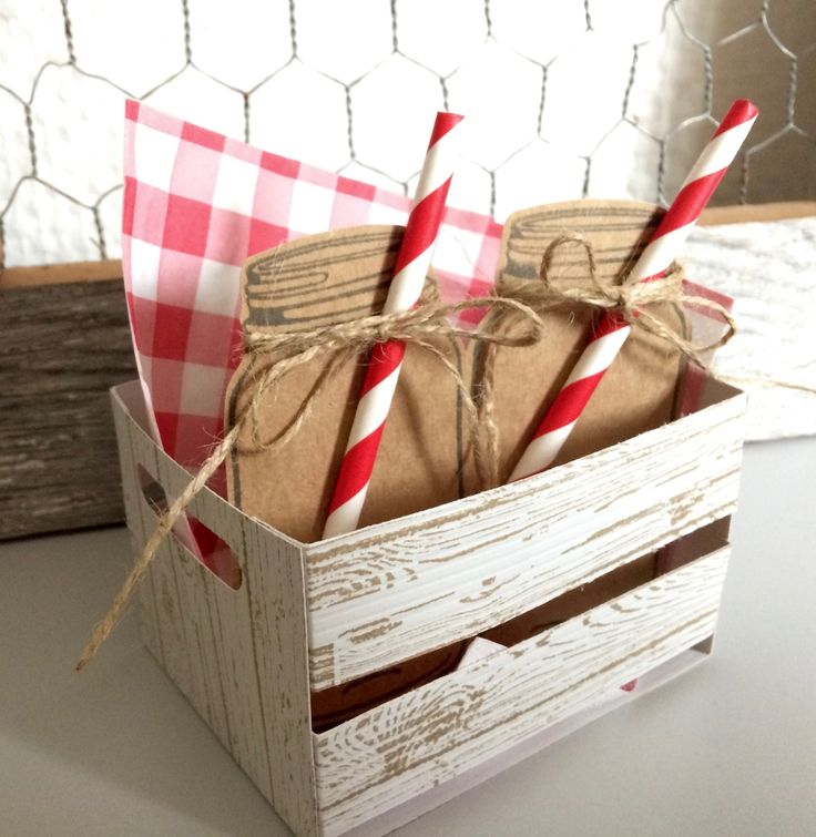 Wooden Crate Stampin Up LAURAS CREATIONS