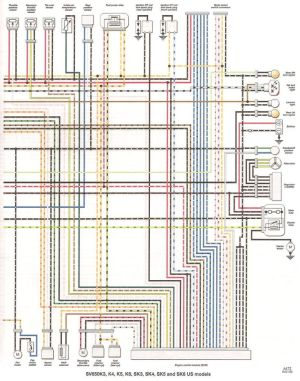 FAQ: Colored wiring diagram > all sv650 models  Suzuki