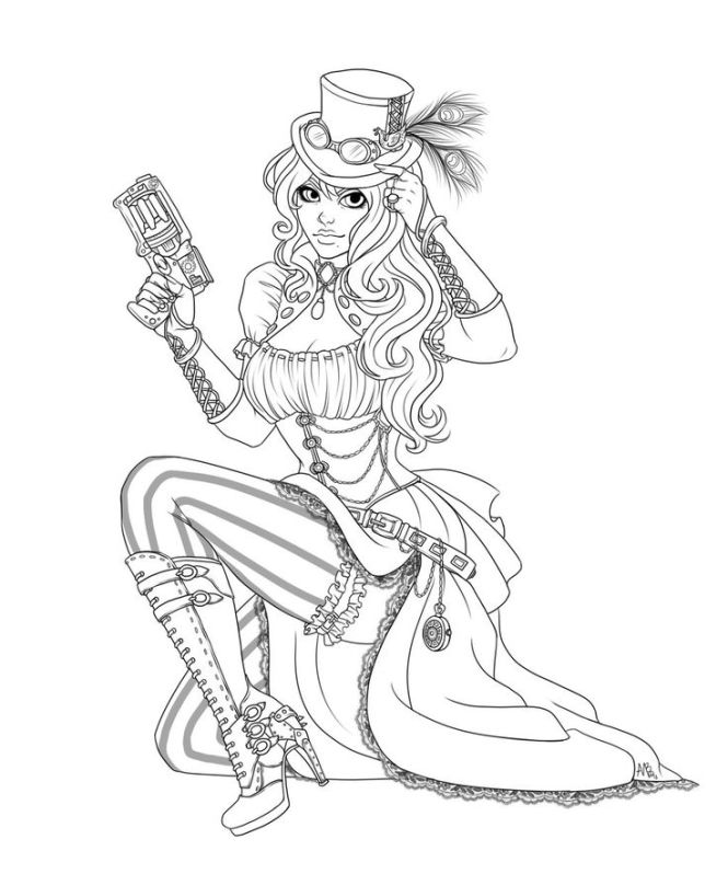Steam Punk Coloring Pages