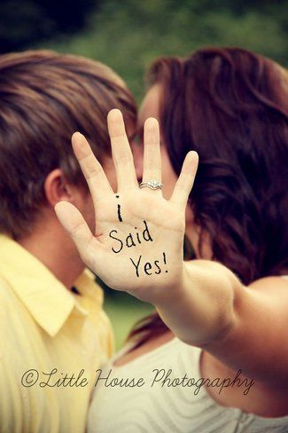 Speak to the hand photo idea that lets you show off your engagement ring while s