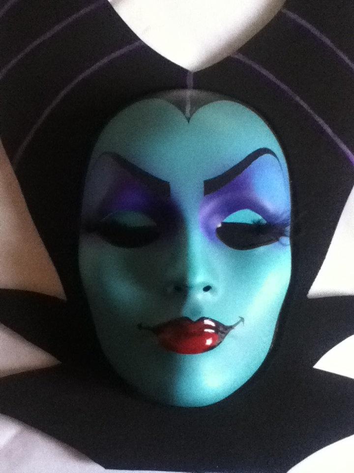 Maleficent Mask, Evil Queen, Sleeping Beauty...HandMade