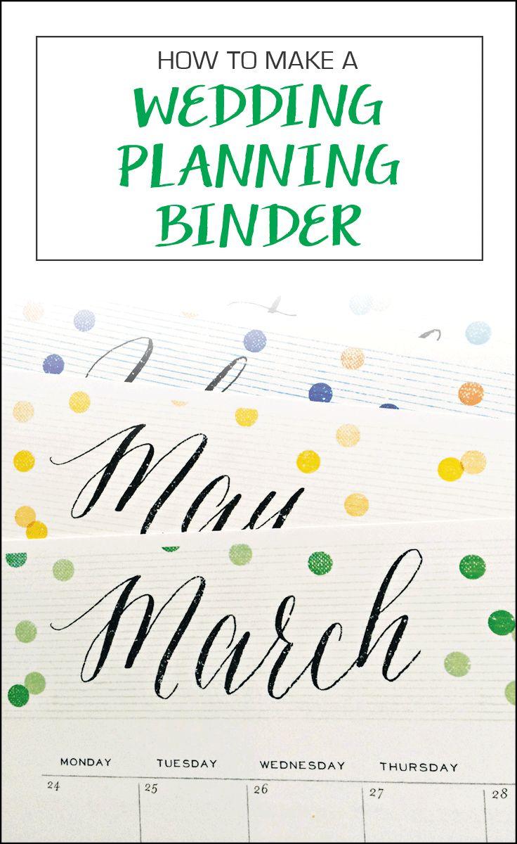 DIY Wedding planning binder + free printables! Wedding