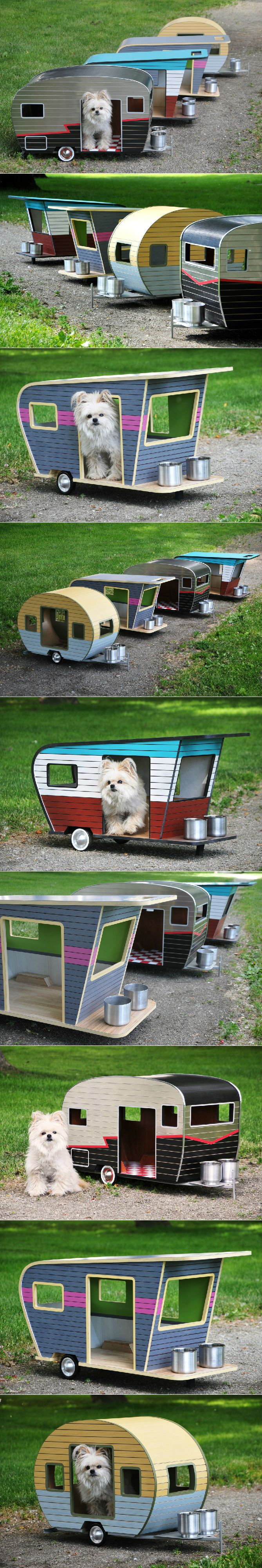 Cool Dog House Upgrade: Instantly-Endearing Pet Trailer Designs. Unique dog-sized trailers made from envir