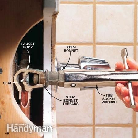 How To Repair A Leaking Tub Faucet Faucets Tubs And Plumbing