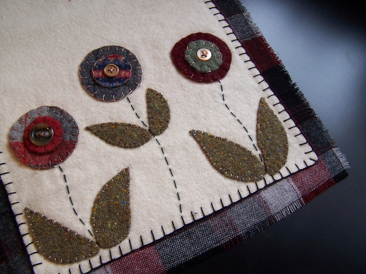 115 Best Images About Wool Felt Table Runners And Coasters On Pinterest