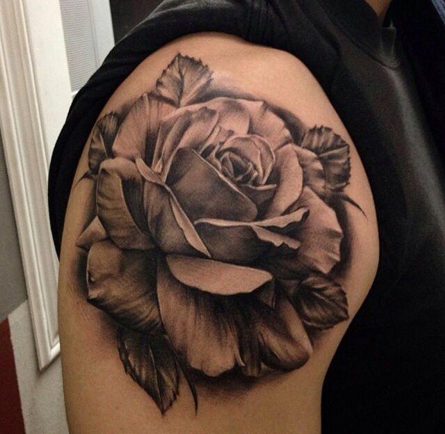 Grey And Black Carnation Tattoos