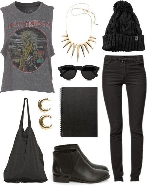Reference: Rock Style Fashion: 27 Outfit ideas and Stylish Combinations minus th