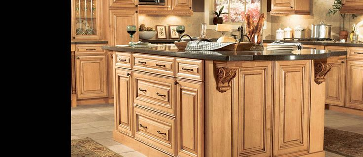 I Think So American Woodmark Savannah Maple Coffee Glaze