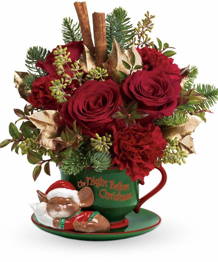 """""""Yule"""" love this Christmas bouquet! Red roses and"""