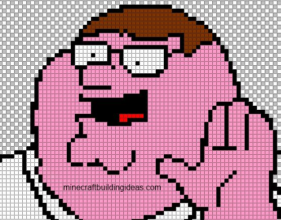 Peter Griffin Minecraft Blueprints Amp Pixel Art