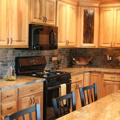 Images Of Countertopsm With Natural Maple Cupboards 58536 Hickory Cabinets Traditional