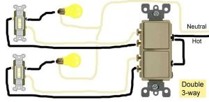 Double 3way switch wiring | Electricity three way