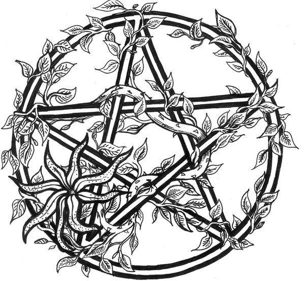 tiggi stones tattoo design. overgrown pentacle  wiccan