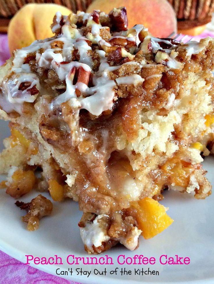Peach Crunch Coffee Cake |