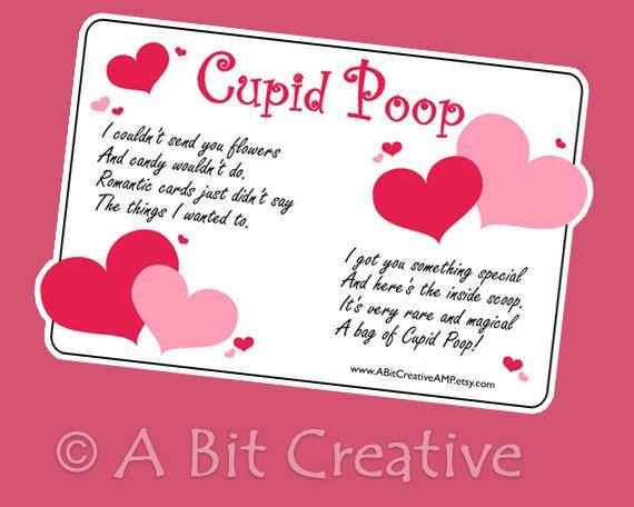 Cupid Poop Valentines Day Sweetheart Gag Gift Design DIY
