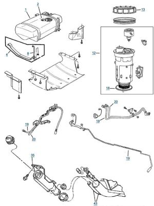 Jeep Grand Cherokee Fuel Line Diagram | Jeep Grand Cherokee info | Pinterest | Jeep grand