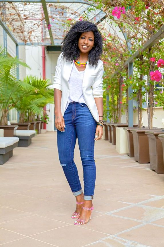 Image result for how to style white tee for women