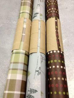 Awesome idea, use papertowel rolls to keep wrapping paper from unrolling!