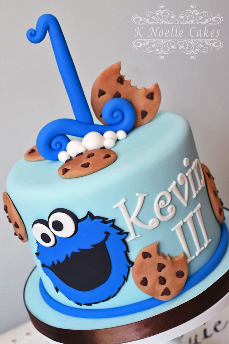 48 Best Images About Cookie Monster Cakes On Pinterest