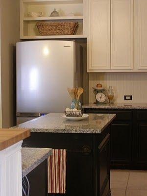 Open Shelves Above Fridge Kitchen Ideas Pinterest