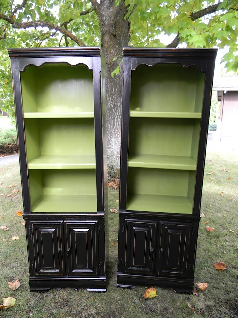 Ive been looking for a used console, bookcase or hutch to transform into something fabulous! I love whats been done to these!